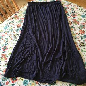 H&M Navy Blue Maxi Skirt